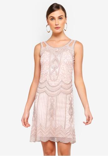 Frock and Frill pink Ziegfel Embellished Flapper Dress 098DFAA8D1C9EEGS_1