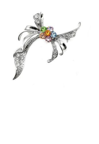 Glamorousky multi Elegant Ribbon Brooch with multi-color Austrian Element Crystal 4BB1BAC7B29F29GS_1