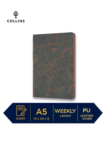 Collins brown Collins Enigma ─ 2021 Calendar Year Diary ─ Brown ─ A5 Week to View 57C9EHLFC64E1BGS_1
