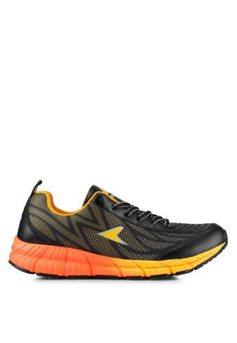 Power black and orange Power Athletic Running Shoes D03C7SH45F492DGS_1