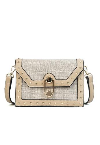 Lara beige Women Flap Buckle Cross Body Bag - Beige F127EAC780E86BGS_1