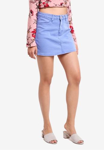 Supre blue A-Line Denim Skirt 2D6FBAA24C84B6GS_1