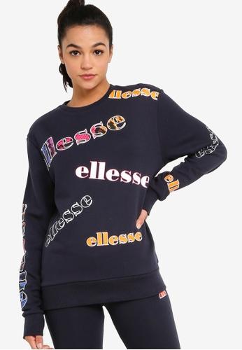 Ellesse navy Ellesse Heritage Mircilla Crew Sweatshirt 52983AA0A0B565GS_1