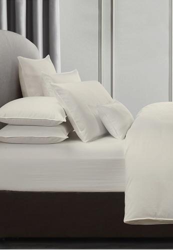 Grand Atelier white Ecru 1000TC 100% Egyptian Cotton Sateen Bolstercase 1pcs (Suite Essentials Collection) 00015HL046F5B7GS_1