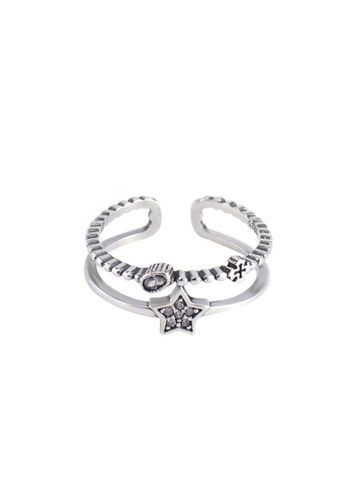 A-Excellence silver Premium S925 Sliver Star Ring 8AB0BAC4C62862GS_1