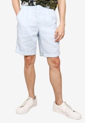 Timberland blue Tarleton Lake Cotton Linen Easy Shorts 45A52AA7FB244DGS_1