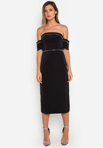 NOBASIC black Off Shoulder Bodycon Dress 863EAAAE851470GS_1