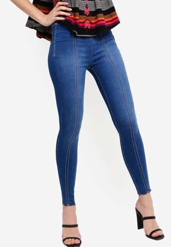 Free People blue Seamed Po Skinny Jeans 19F2AAA04348E3GS_1