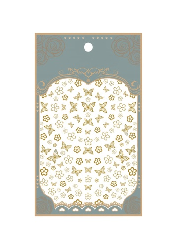 Pretty2u gold Gold Butterfly Ultra Thin Nail Sticker C4841BE442DD79GS_1