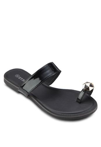 閃石夾趾涼鞋, 女鞋, esprit hk鞋