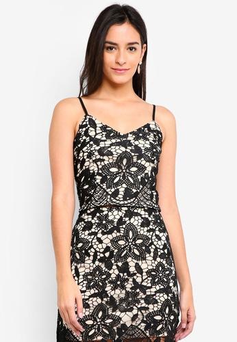 Something Borrowed black Lace Bralette Top 34D0EAAE4154C8GS_1