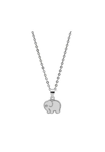 LYCKA silver LDR1352 S925 Silver Cute Elephant Necklace C85F4AC2504B3FGS_1