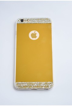 Mirror Back Plate Cover with Bling Case for iPhone 5/5s