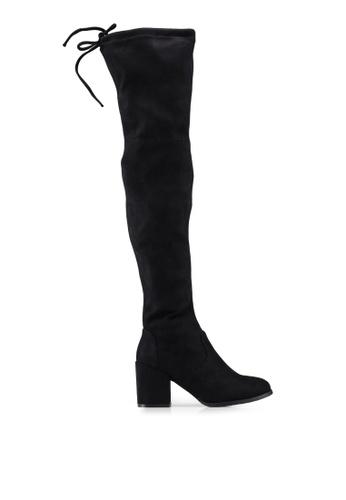 5b5b1d4e8b43 Twenty Eight Shoes black Skinny Over Knee Heel Long Boots 88576SH8B83676GS 1