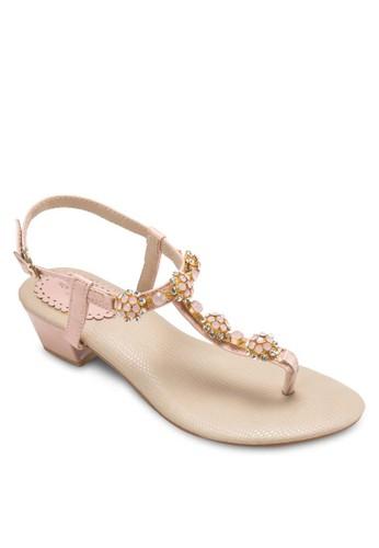閃飾夾腳繞踝涼鞋, 女鞋, 細帶esprit hk outlet高跟鞋