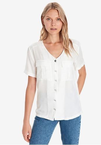 LC WAIKIKI white Pocket Detailed Poplin Shirt 21847AA998E40CGS_1