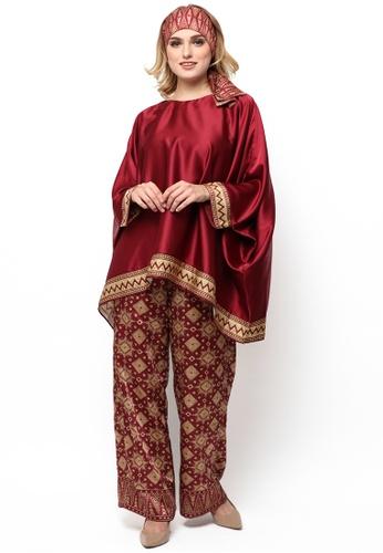 Kanzi by liza yahya red Kanzi Exclusive Tunik Set With Pants 77E70AAF3A4970GS_1