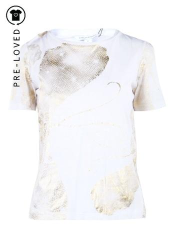 Diane Von Furstenberg white Pre-Loved diane von furstenberg White Printed Top 8A223AA87A7BB5GS_1