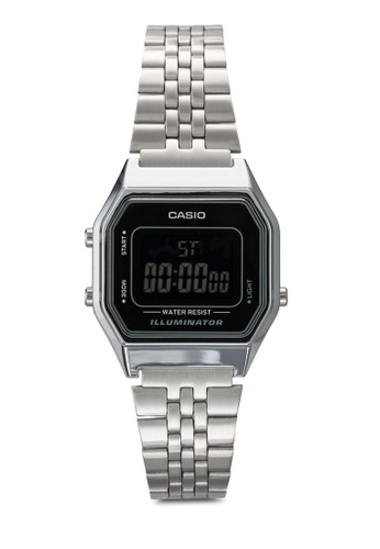 Casio silver Casio Ladies Mid-Size Silver Digital Retro Watch CA843AC26JOJMY_1