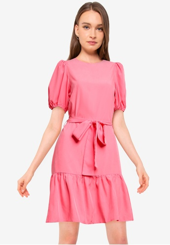 Miss Selfridge pink Pink Mini Dress 8A7C9AAFE31088GS_1