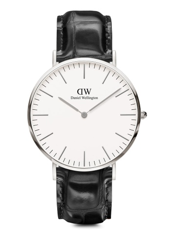 Daniel Wellington black and silver Classic Reading 40mm Silver Watch CEA18AC7C64A39GS_1