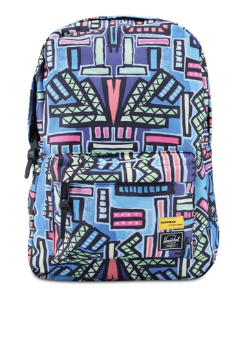 Herschel blue and multi Winlaw Backpack A6CAFACDD12123GS_1