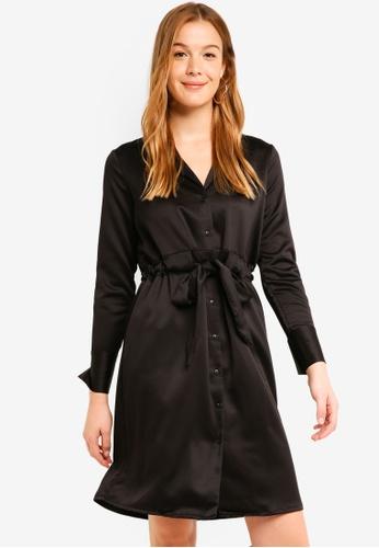 Vero Moda black Ella Long Sleeve Knee Dress 2DE30AAA290294GS_1