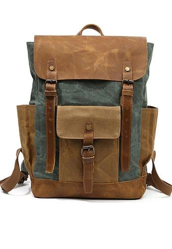 Twenty Eight Shoes green VANSA Vintage Wax Canvas Backpacks VBM-Bp3132 2FDEBAC48C8D98GS_1