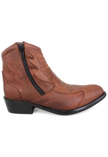 midzone brown EAGLE HUNTER Men Handmade Leather Boots EH346 Brown CF4E5SH1D92407GS_1
