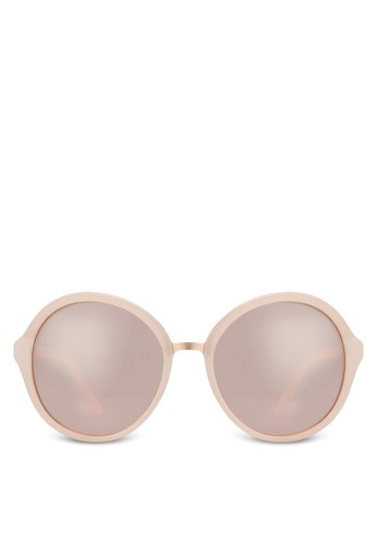 Hilin zalora 泳衣圓框太陽眼鏡, 飾品配件, 飾品配件