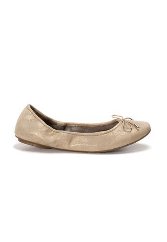 Shu Talk 金色 AMAZTEP 全新貼腳柔軟真皮芭蕾舞鞋 6FCEDSH0147FEEGS_1