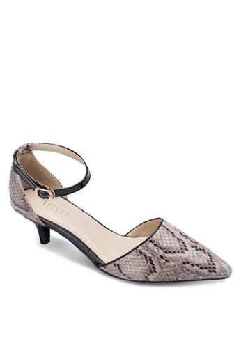 蛇紋側zalora鞋子評價鏤空低根鞋, 女鞋, 鞋