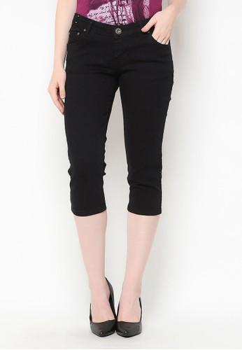Mobile Power black Basic Slim Fit 3/4 Pants Black Mobile Power Ladies - H5330 46245AA9C12D7EGS_1