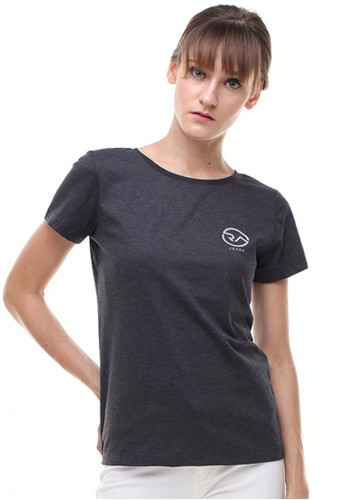 RA Jeans Ladies Small Logo Tee Round Grey