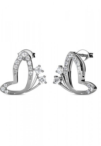 Her Jewellery silver Her Jewellery Butterfly Wings Earrings (White Gold) with 18K Gold Plated F5684ACF97A73AGS_1
