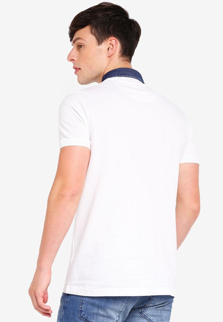 Polo Brave Shirt Soul Collar White Denim 40q1Bxn4