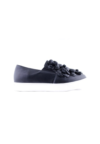 Te Chi-Chi black Slip On With Rose TE125SH87XCEMY_1