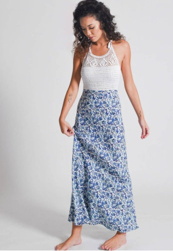 Aanya white and blue Crochet Blue Halter Maxi Dress 6ABC1AA092DA94GS_1