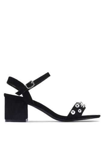 Noveni 黑色 金屬感鉚釘高跟鞋 66DBDSHF2380C3GS_1