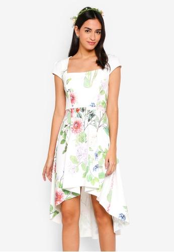 ZALORA multi Bridesmaid Square Neck Fit And Flare Dress F41E6AA68226F5GS_1