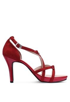 64389950a789 DMK red Cute Bow Heel Sandals 0E7F1SHD3A012CGS 1