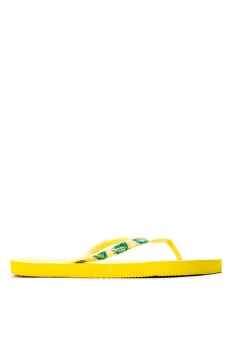 BENCH yellow Basic Rubber Slippers BE550SH03LXOPH_1