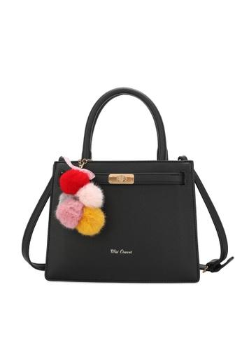 Wild Channel black Ladies Top Handle Sling Bag 36FE6ACE0BB47DGS_1