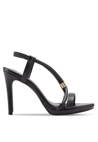 VINCCI black Strappy Heels 1737FSH4A19E4DGS_1