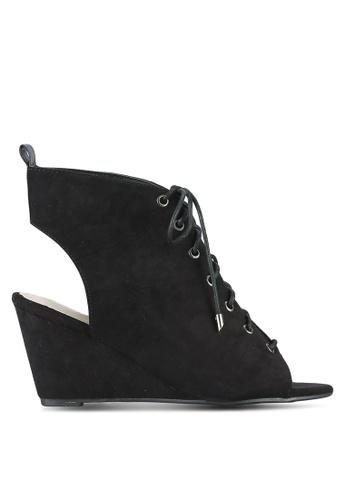 Something Borrowed black Peep Toe Bootie Wedges 60CADSH8901466GS_1