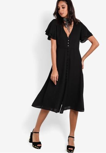 ZALORA black Collection Button Down Sun Dress FDE8FAA1482707GS_1