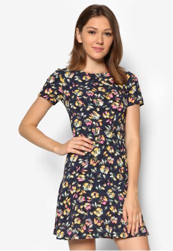 zalora 內衣碎花短袖連身裙, 服飾, 夏日洋裝