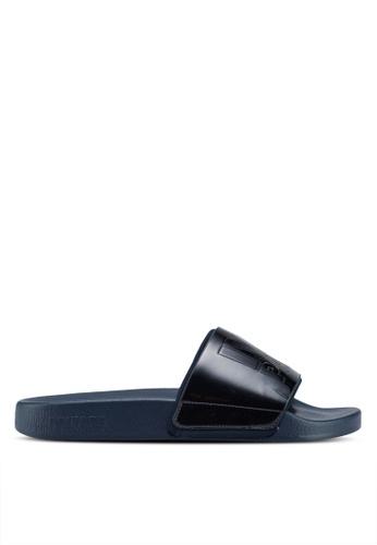 Ivy Park blue and navy Metallic Sliders 64629SH249E3E8GS_1