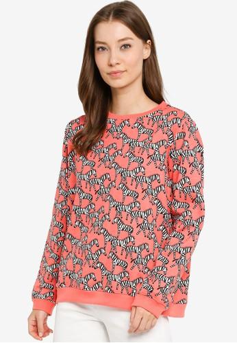 Compania Fantastica pink Zebra Print Sweatshirt F122FAAAF18F4AGS_1