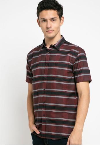 OLLten red and grey O/L-Men Shirt 66DD7AA2EC5F24GS_1
